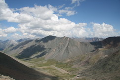 View to Shkolyar crossing and Shumakgol ricer valley